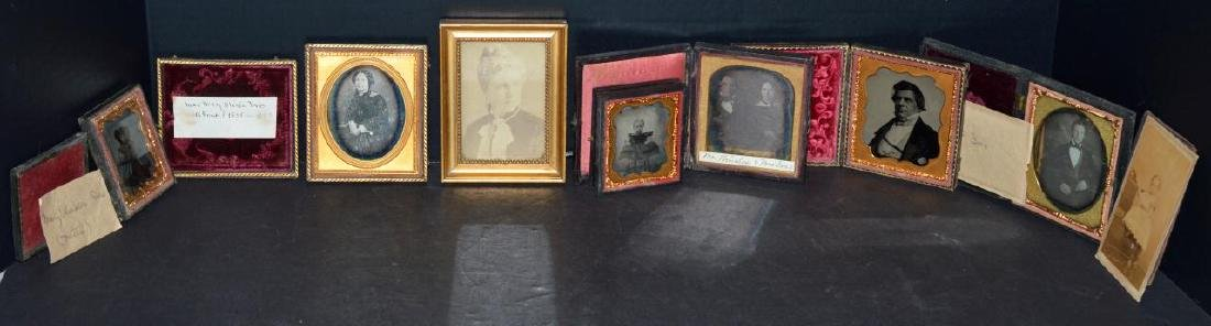 Lot of Old Vintage Photos in Embossed Book Frames