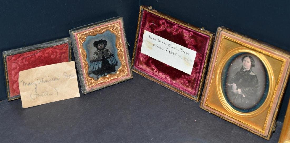 Lot of Old Vintage Photos in Embossed Book Frames - 2