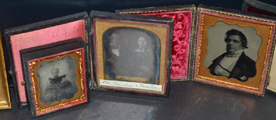 Lot of Old Vintage Photos in Embossed Book Frames - 3