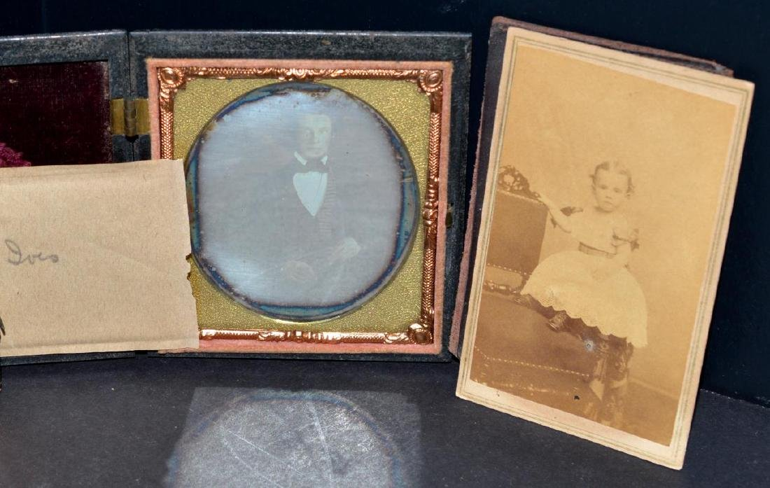 Lot of Old Vintage Photos in Embossed Book Frames - 4