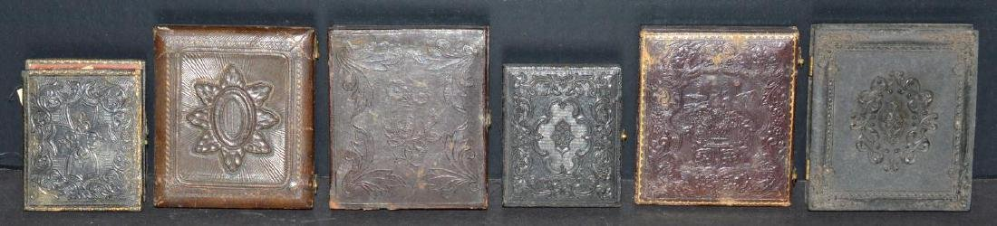 Lot of Old Vintage Photos in Embossed Book Frames - 5