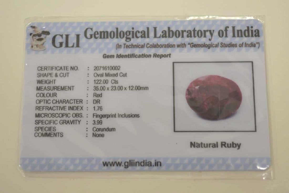 Loose 112.00ct opaque Ruby. - 5