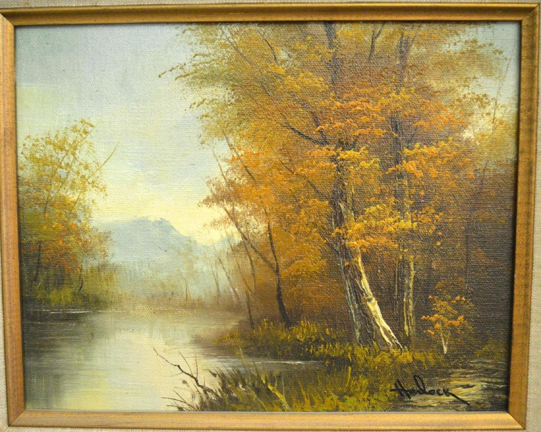 Harlock Oil On Canvas Forest Landscaping Painting - 3