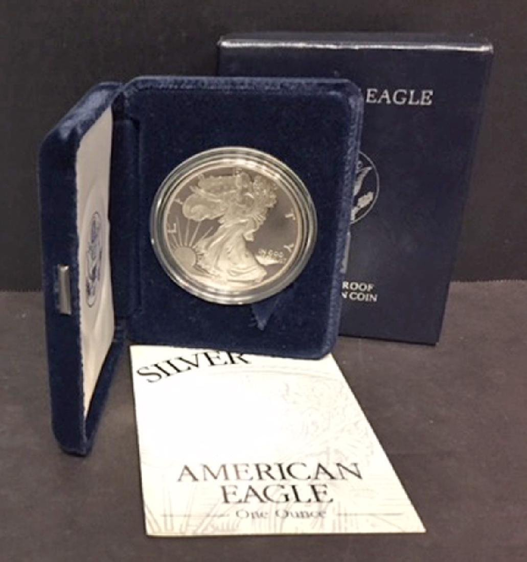 1994 Silver American Eagle Proof with Box & COA