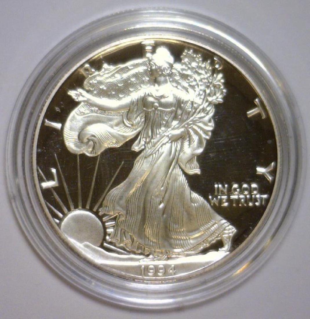1994 Silver American Eagle Proof with Box & COA - 2
