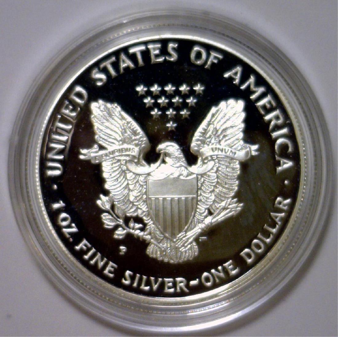 1994 Silver American Eagle Proof with Box & COA - 3