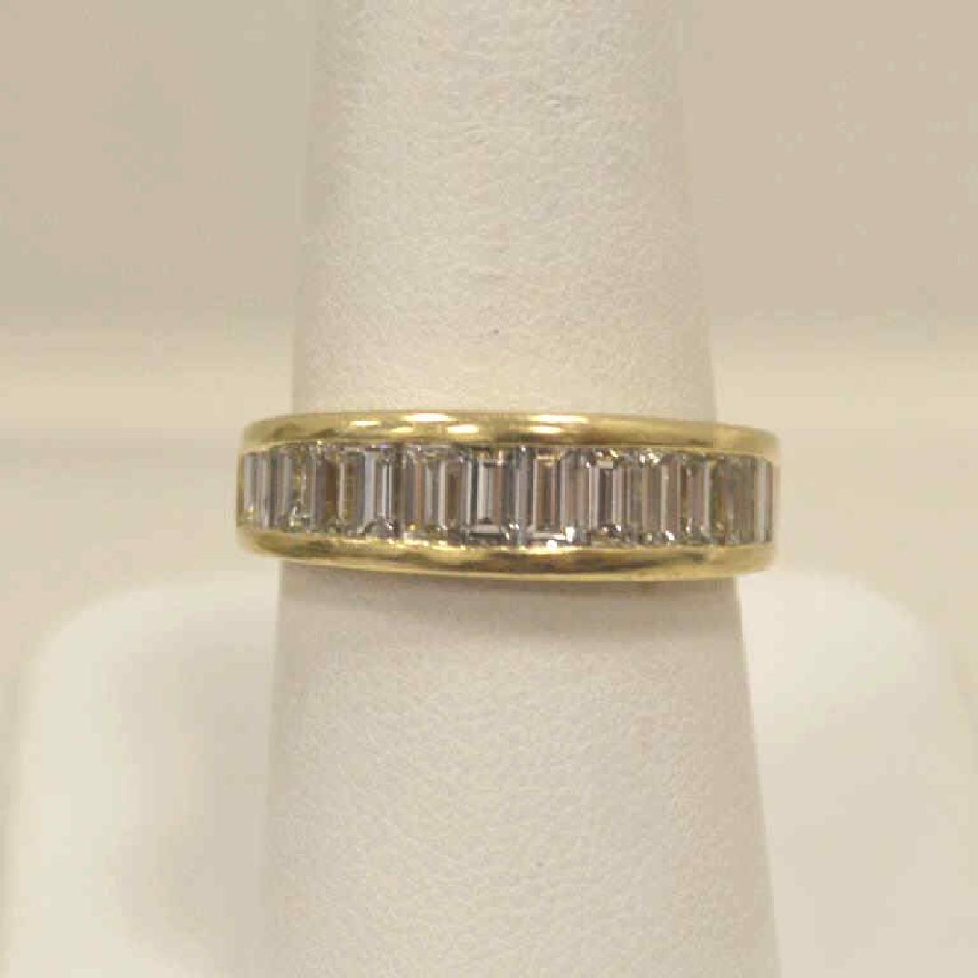 14kt yellow gold diamond wedding band