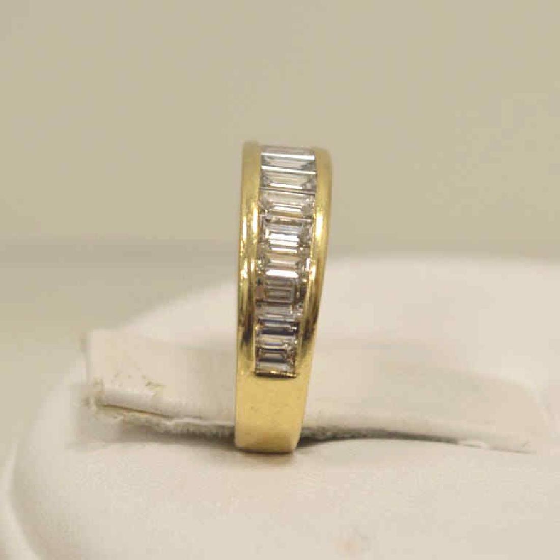 14kt yellow gold diamond wedding band - 3