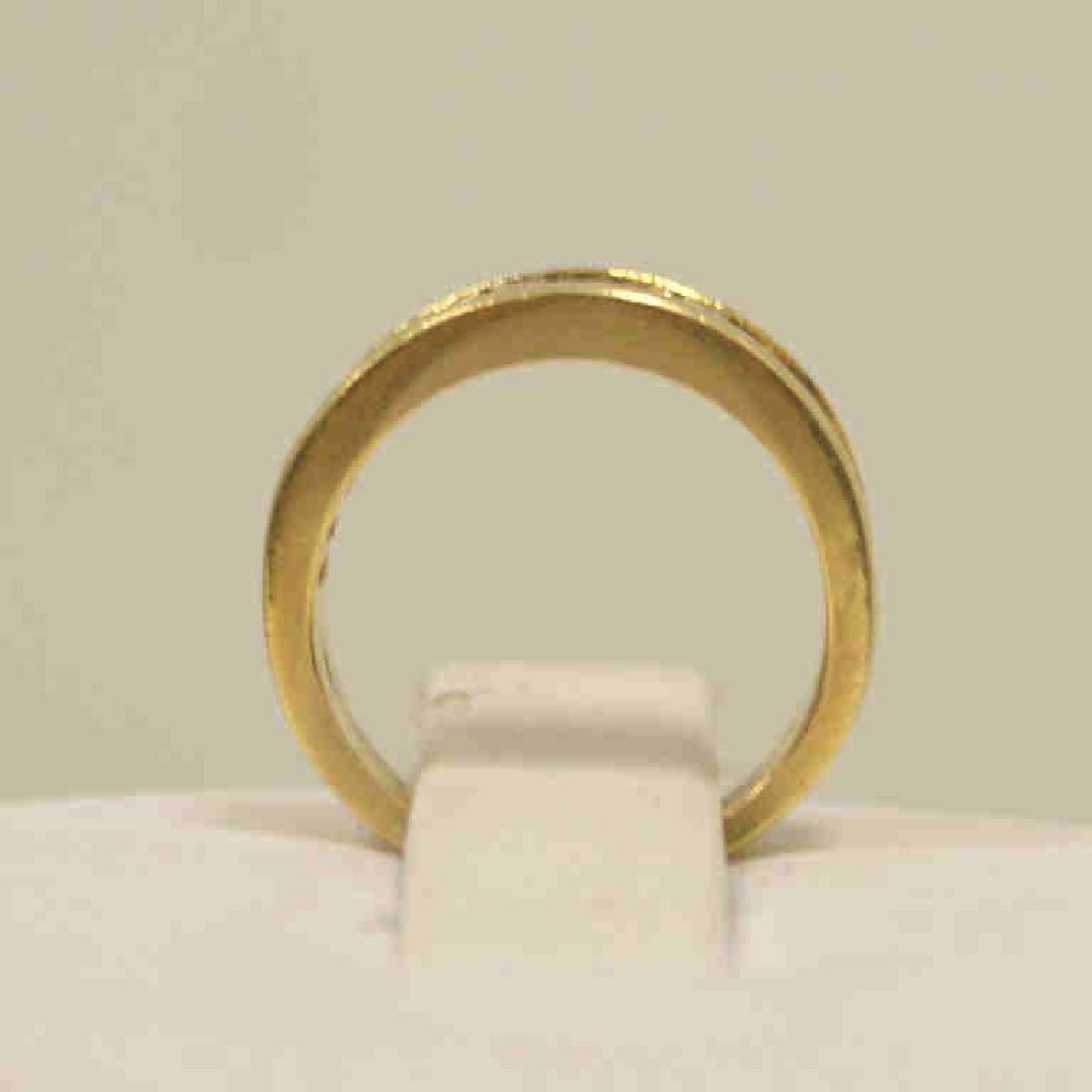 14kt yellow gold diamond wedding band - 4