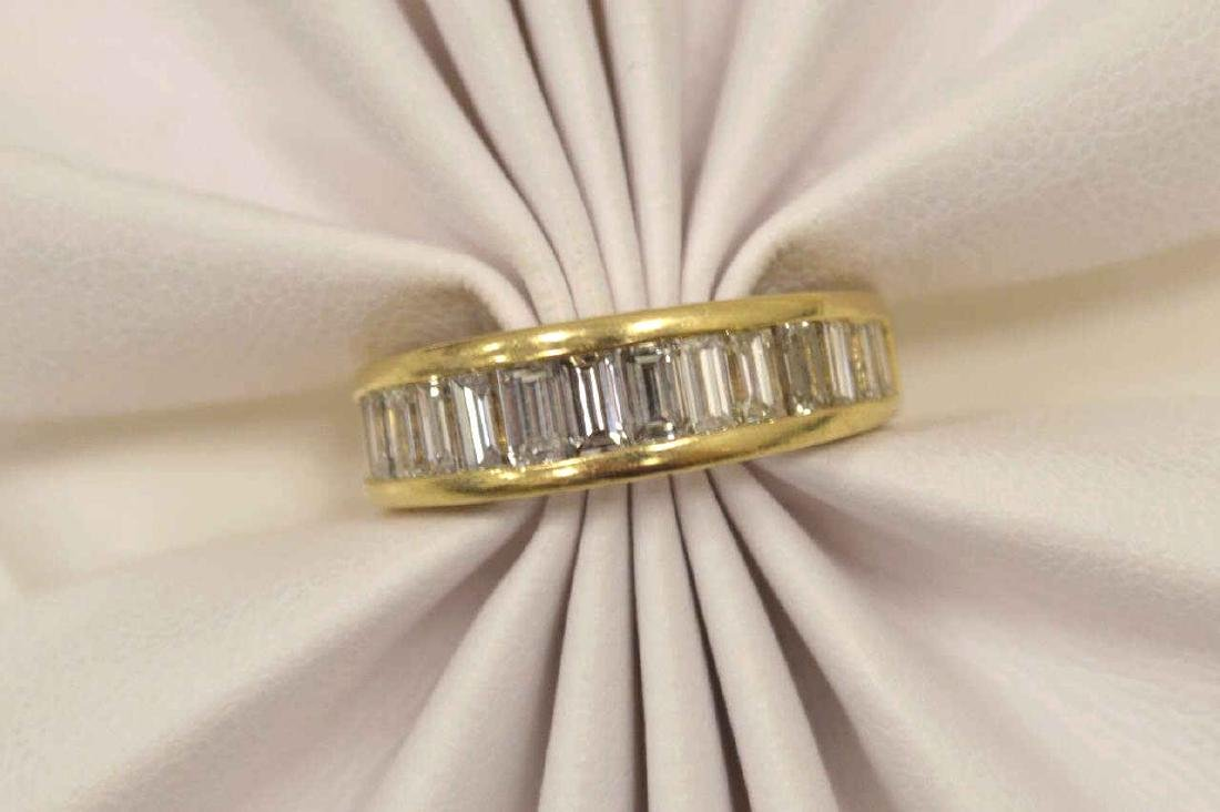 14kt yellow gold diamond wedding band - 5