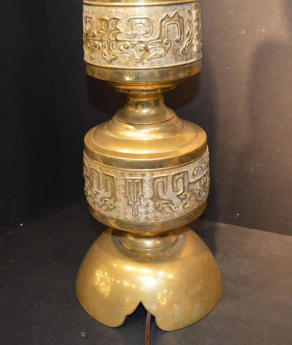 Vintage Moroccan Middle Eastern Style Brass Lamp - 2