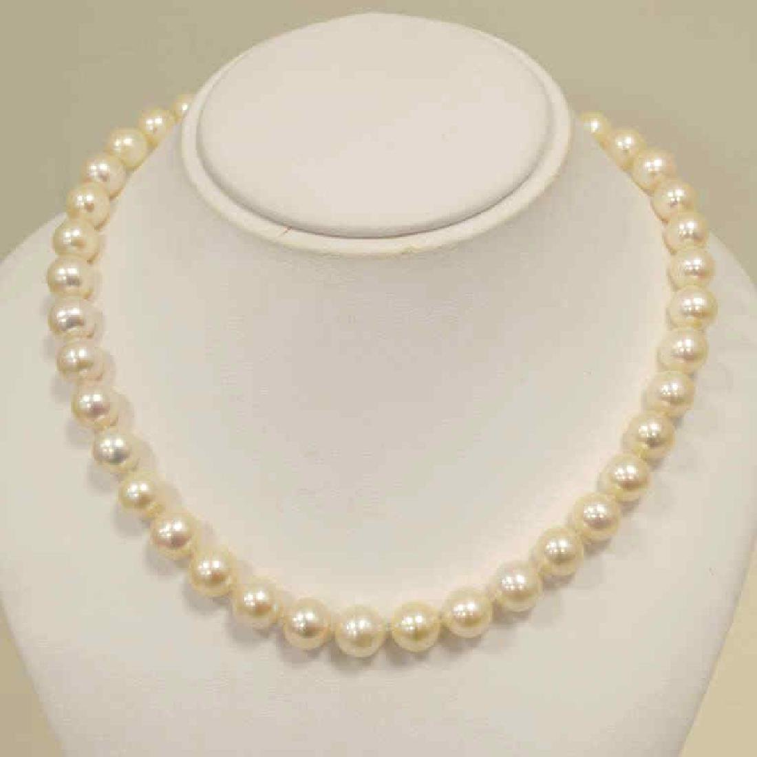 """18"""" strand of freshwater pearls"""