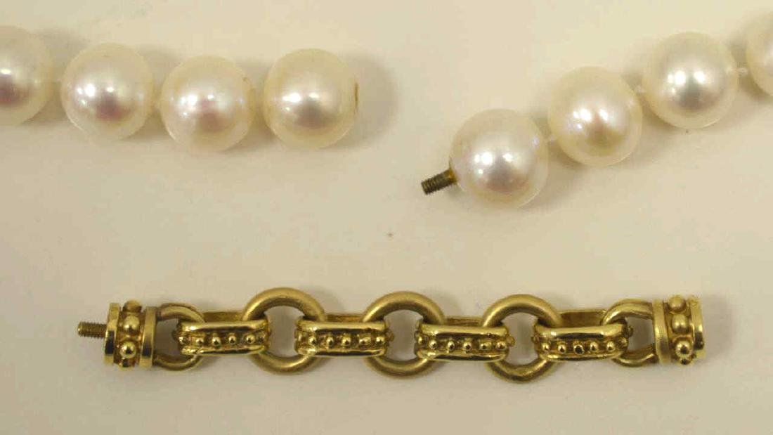 """18"""" strand of freshwater pearls - 4"""