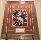Framed & Matted Jim Brown Autograph & Photo