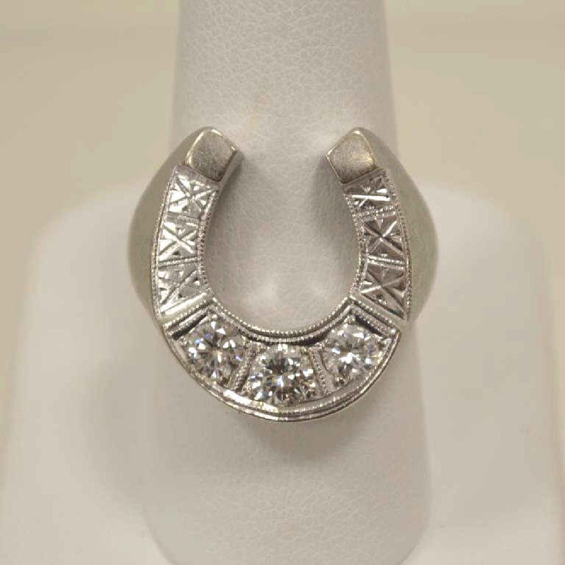 Man's diamond horse shoe ring