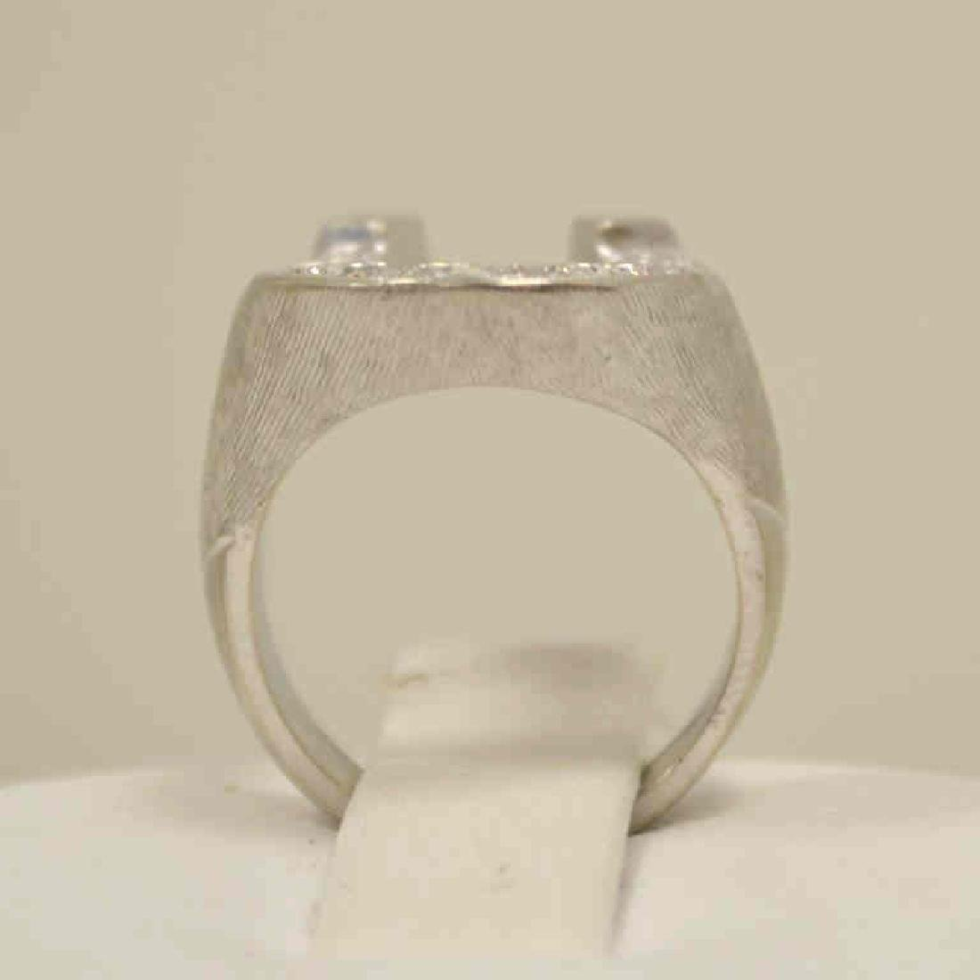 Man's diamond horse shoe ring - 3
