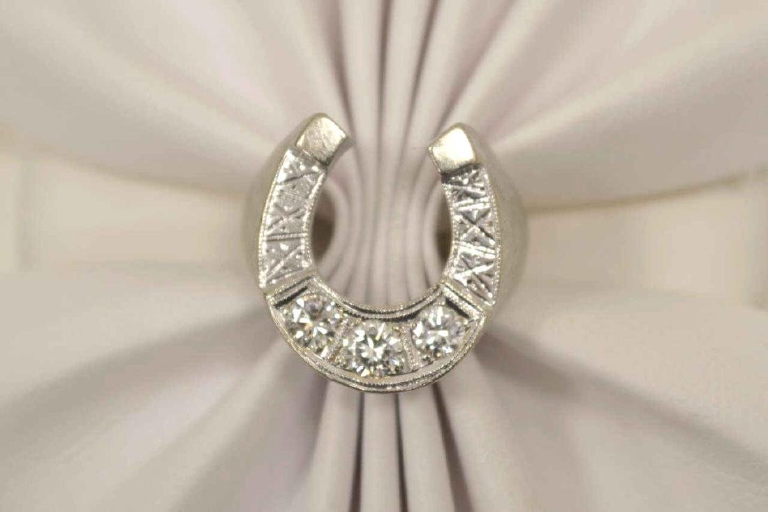 Man's diamond horse shoe ring - 5