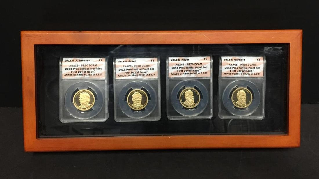 2011 Presidential $1 Proof Set 1st Day ANACS PR70