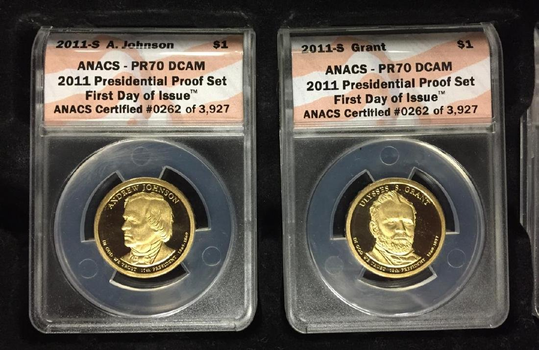 2011 Presidential $1 Proof Set 1st Day ANACS PR70 - 2