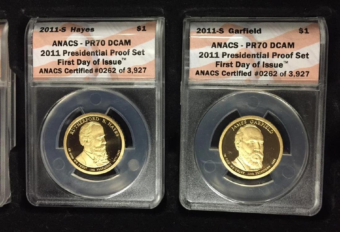 2011 Presidential $1 Proof Set 1st Day ANACS PR70 - 3