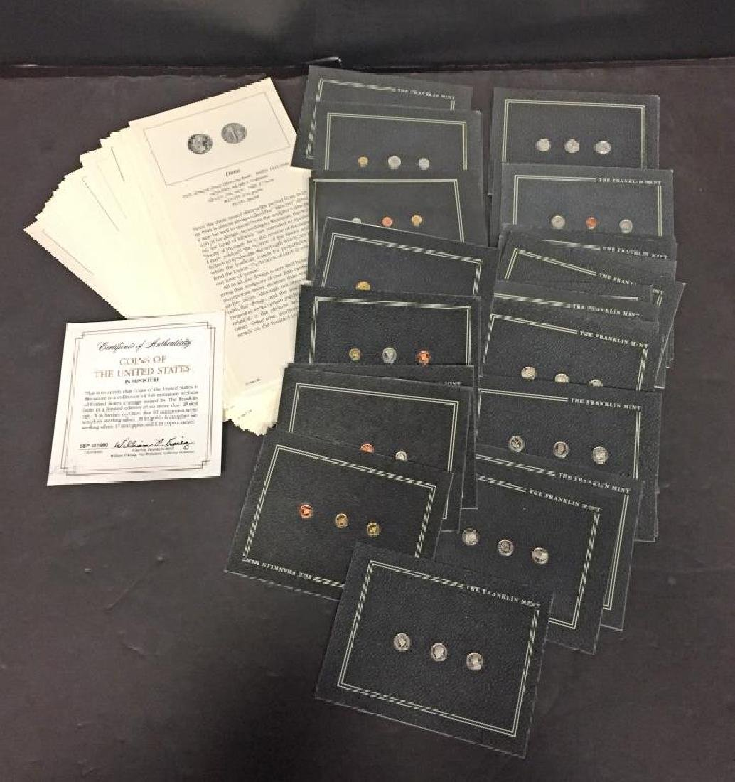 Franklin Mint Coins In Miniature 30 Cards 3 Each