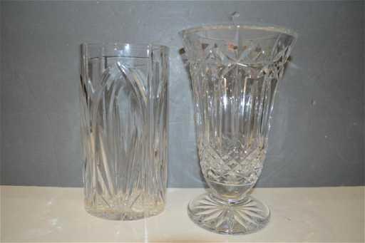 Two Waterford Crystal Vases Balmoral Castleton