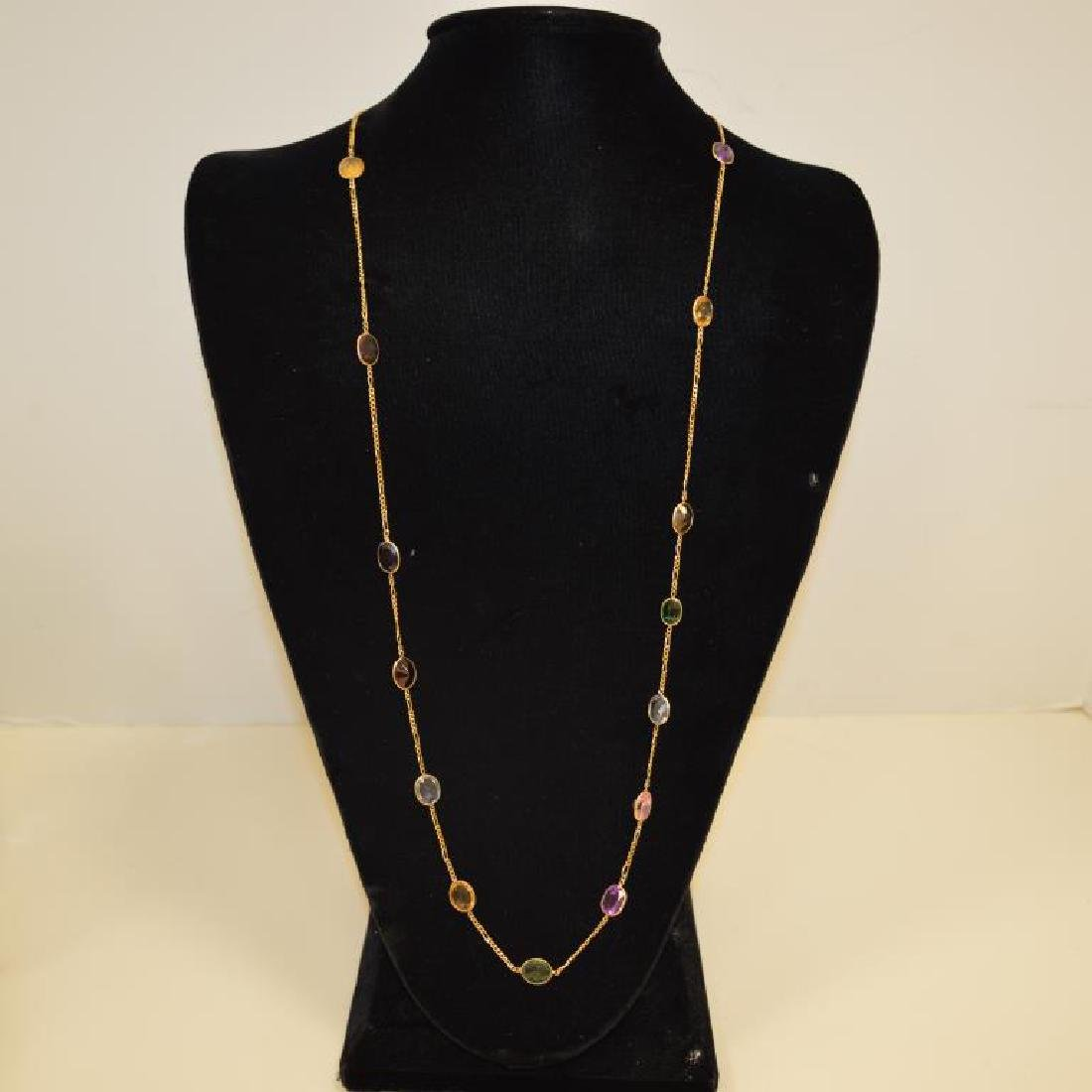 """14kt yellow gold """"gemstones by the yard"""" necklace"""