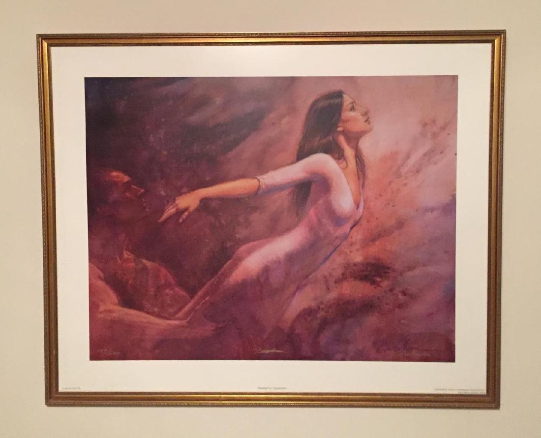 "GREG BIOLCHINI Titled ""Freedom"" Watercolor Print"