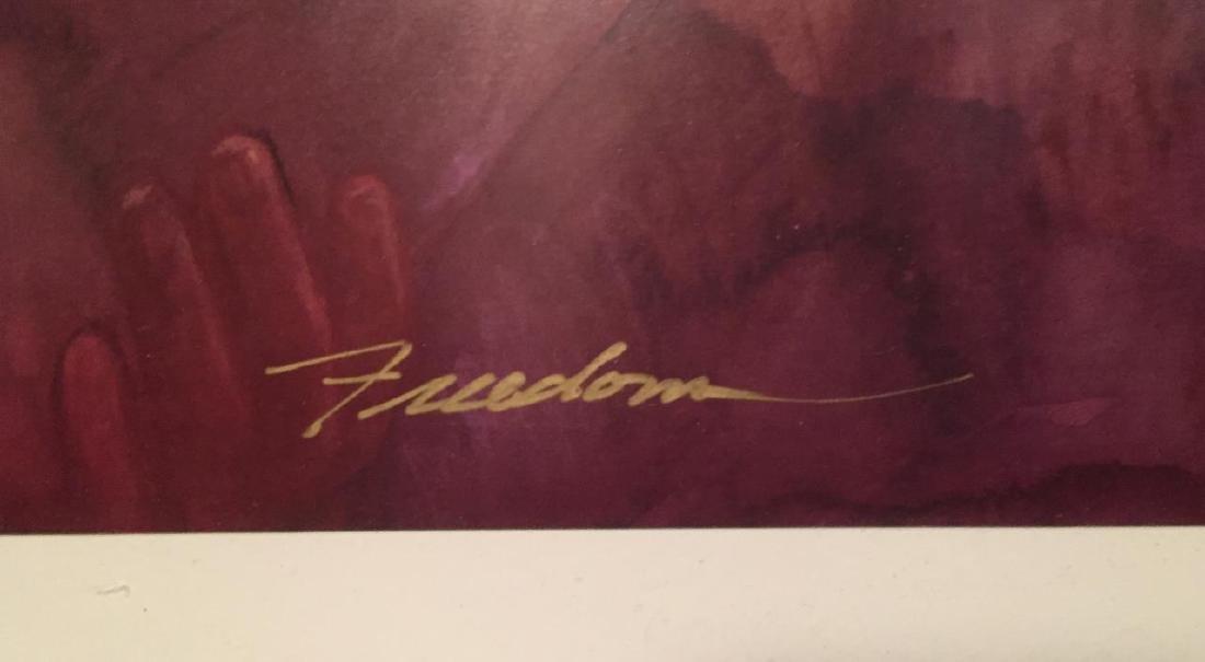 "GREG BIOLCHINI Titled ""Freedom"" Watercolor Print - 3"
