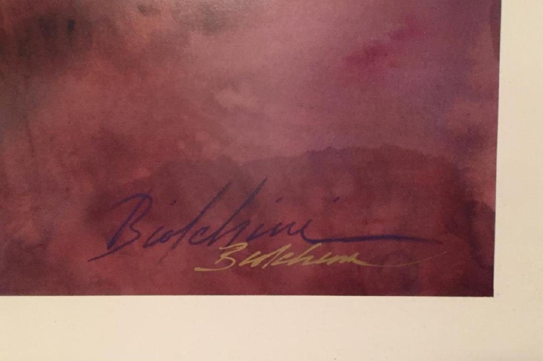 "GREG BIOLCHINI Titled ""Freedom"" Watercolor Print - 4"