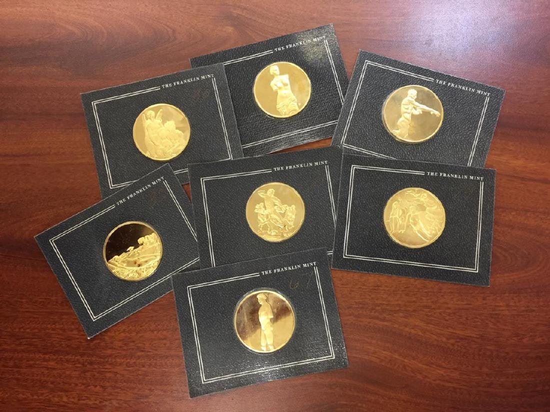 Lot of 7 Franklin Mint Sterling Silver Art Medals