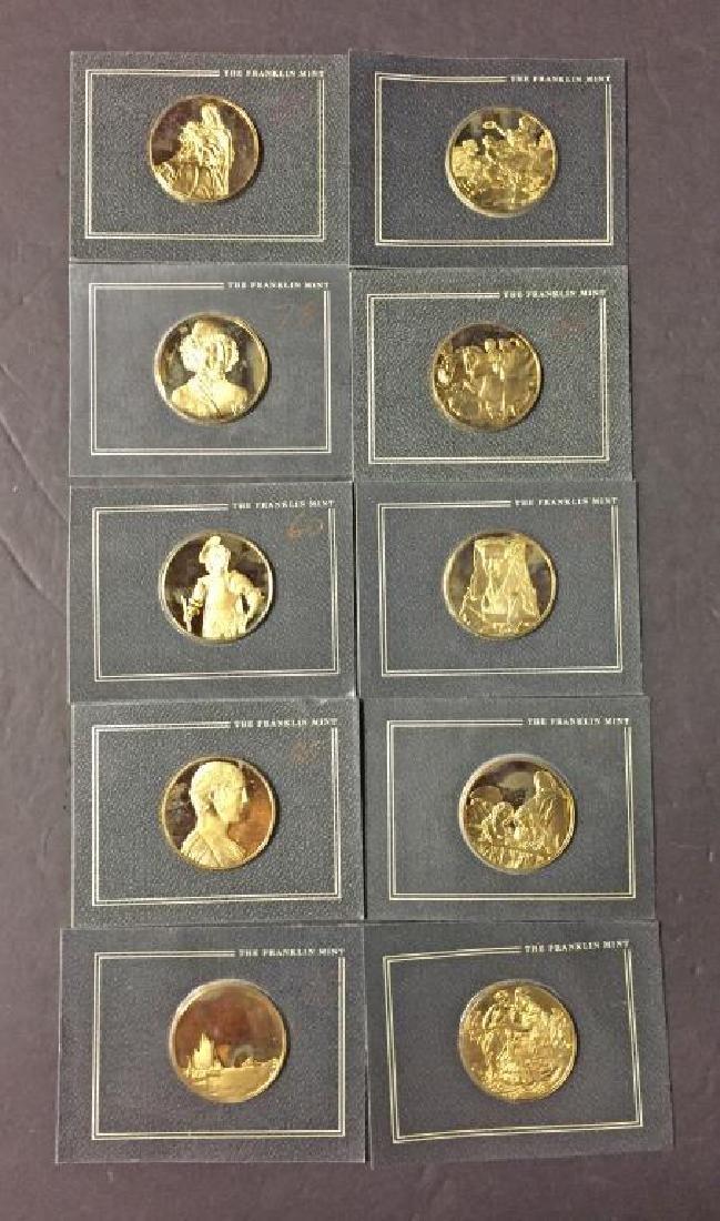 Lot of 10 Franklin Mint Sterling Silver Art Medals
