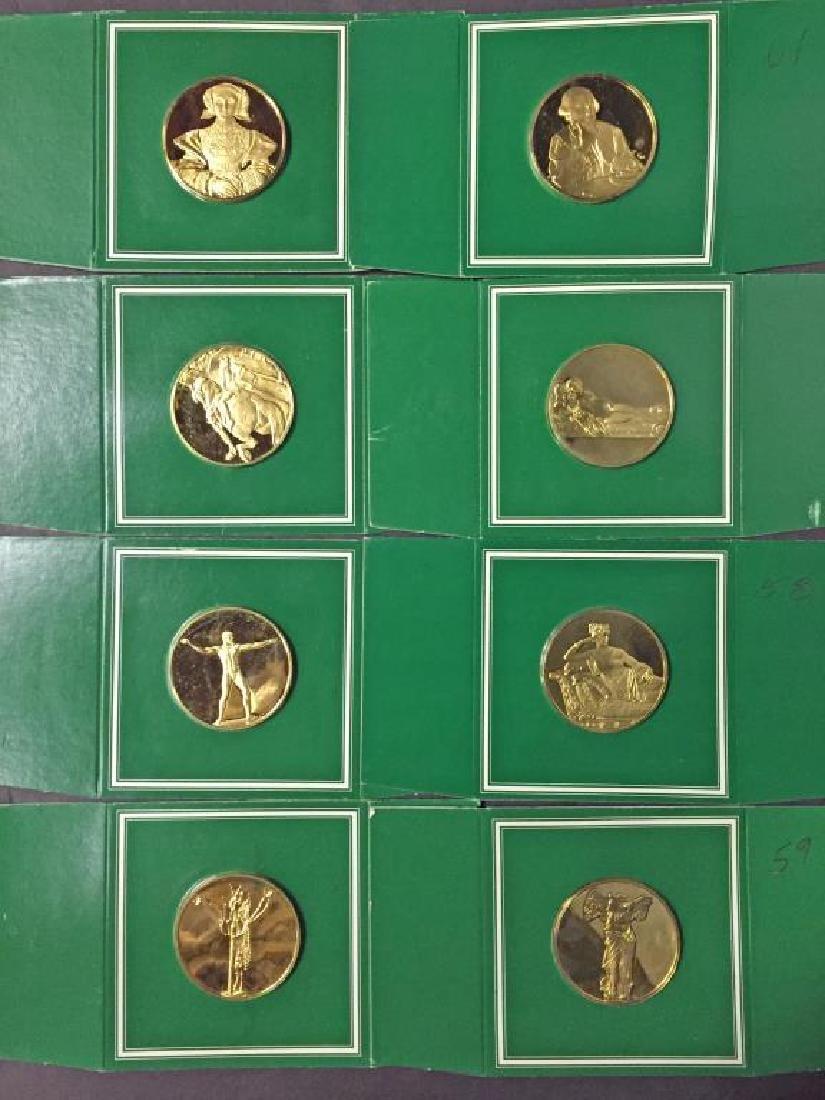 Lot of 8 Franklin Mint Sterling Silver Art Medals