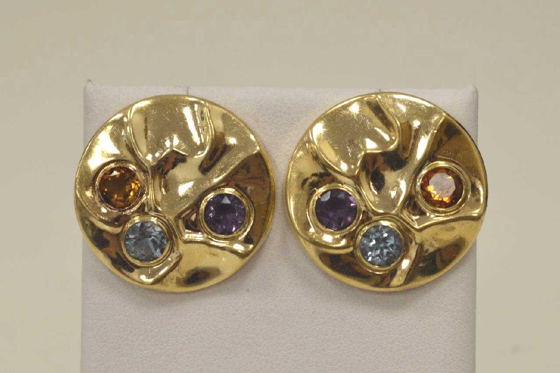 14kt yellow gold circle earrings