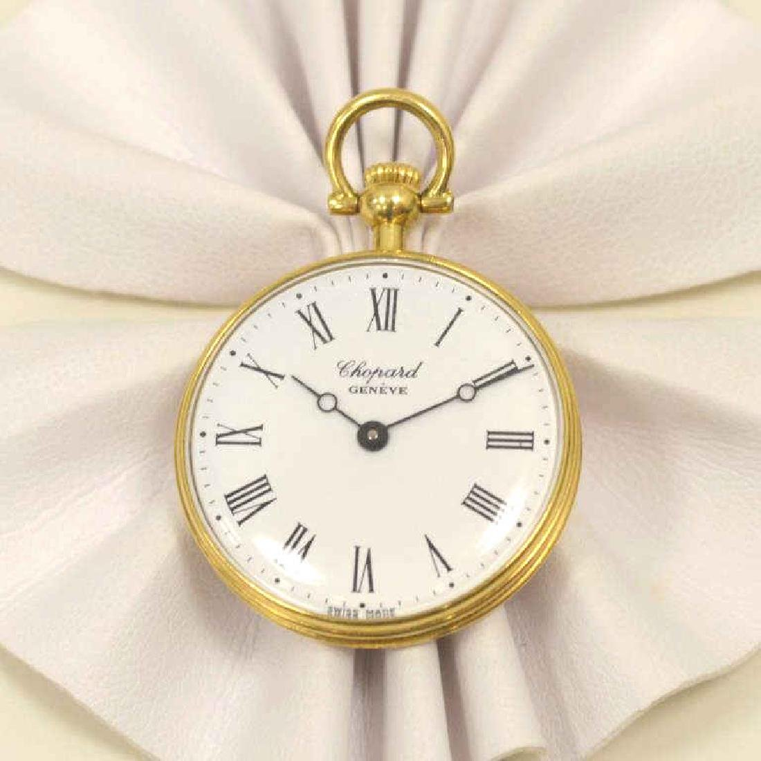 18kt yellow gold Chopard pocket watch