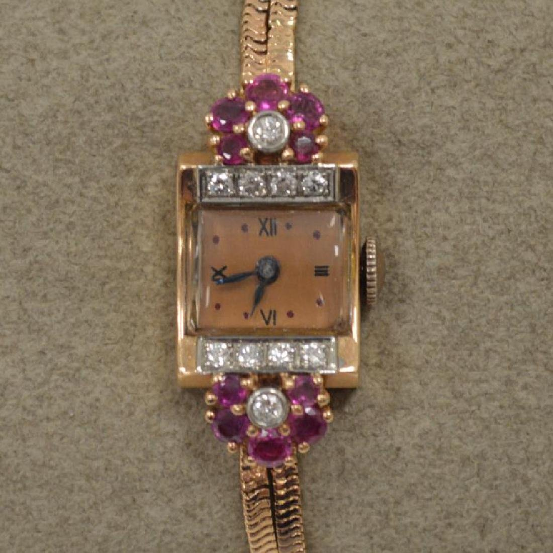 14kt rose gold vintage dress watch
