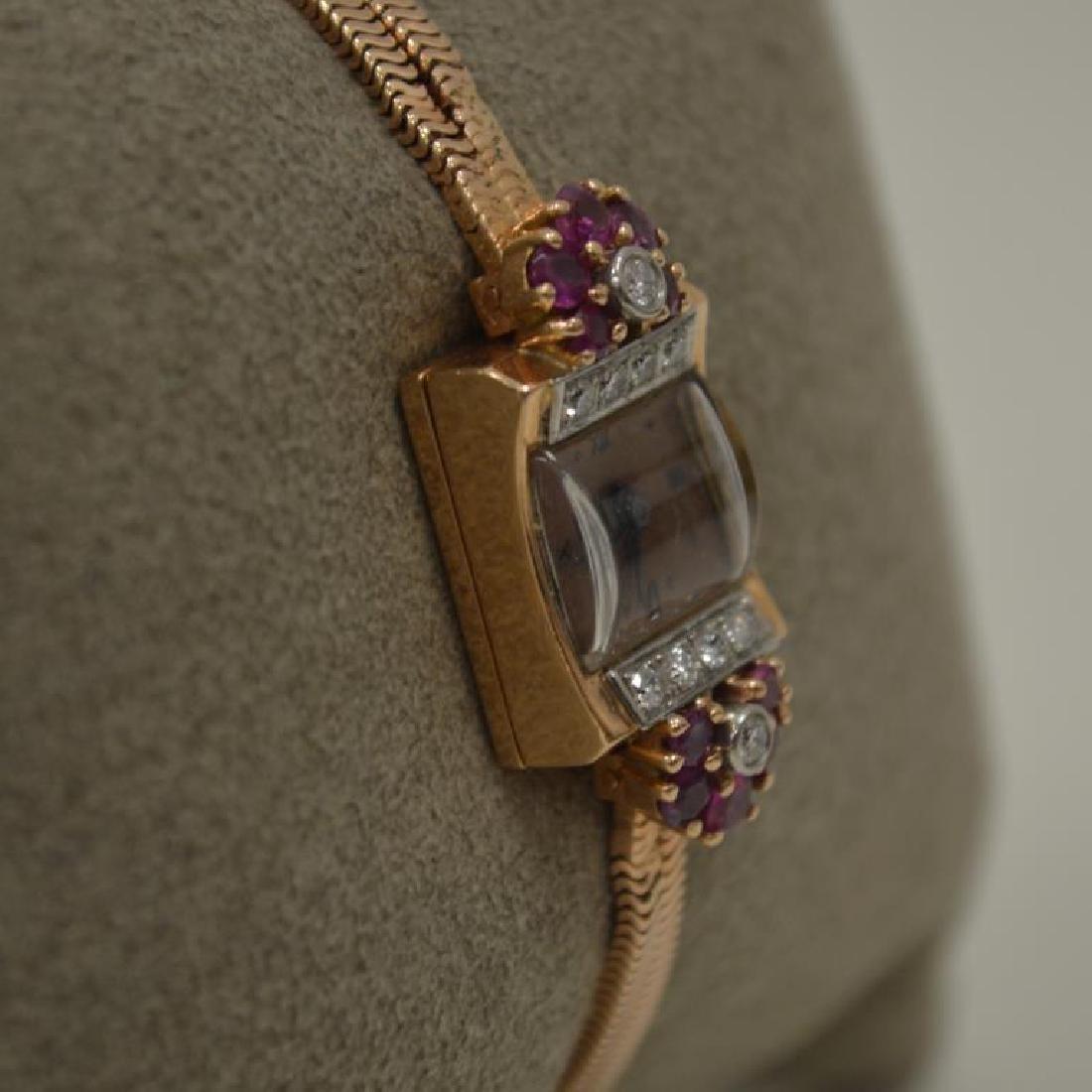 14kt rose gold vintage dress watch - 2