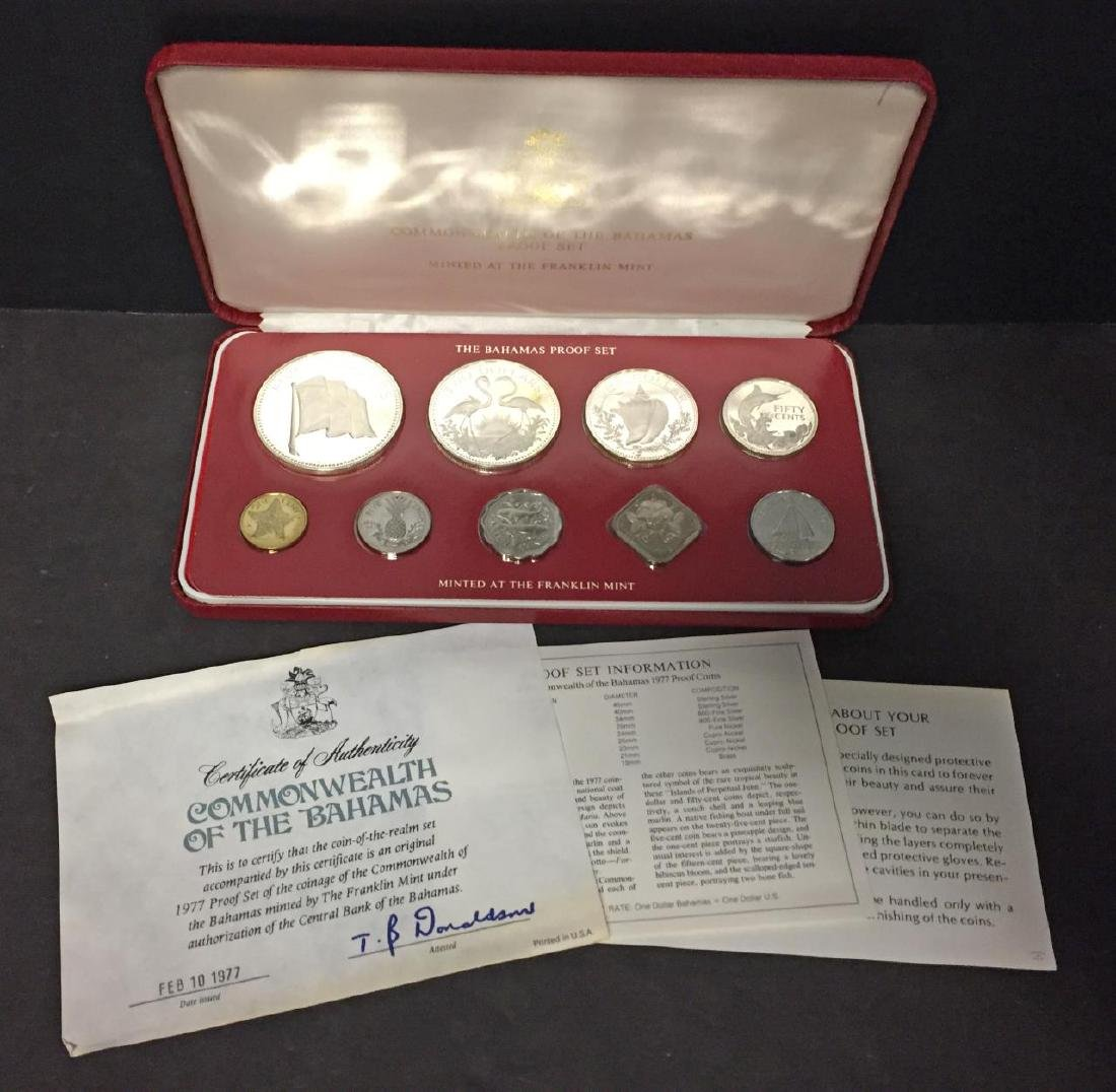 1977 Bahamas Silver Proof Set in Original Case