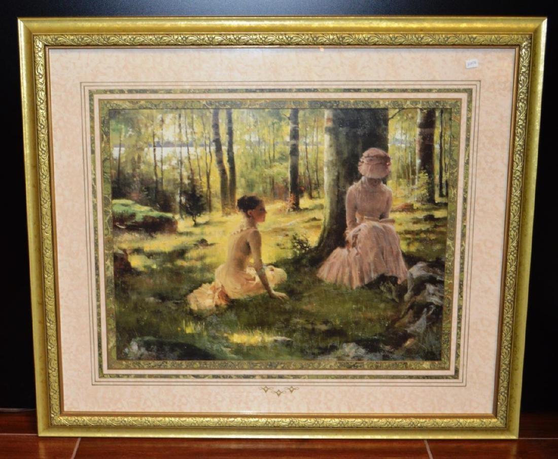 Under the Birches Framed Print by Albert Edelfelt