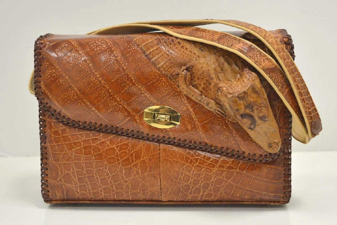 Brown Alligator Handbag