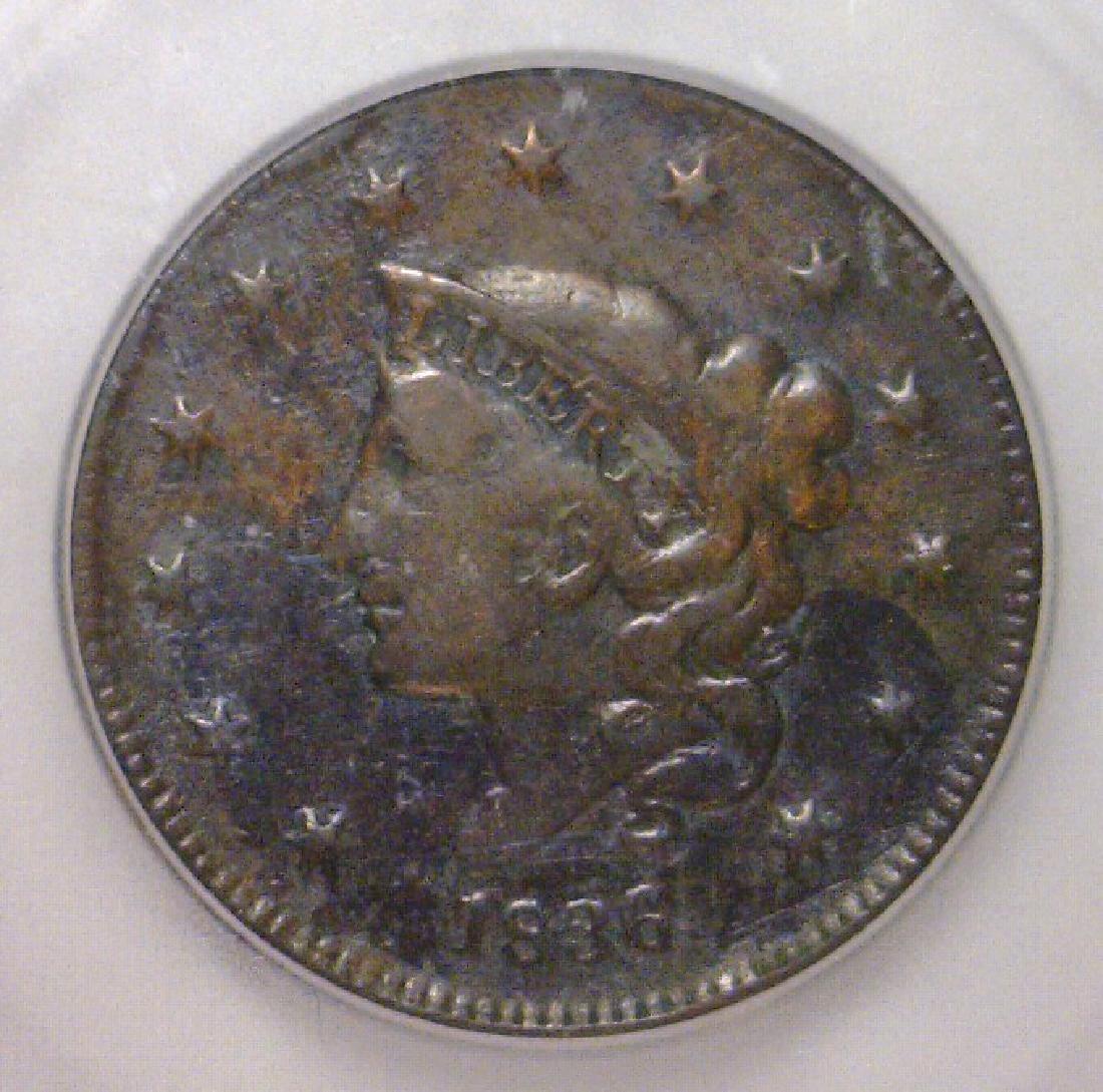 1836 Liberty Head Large Cent ICG Fine F12 Details