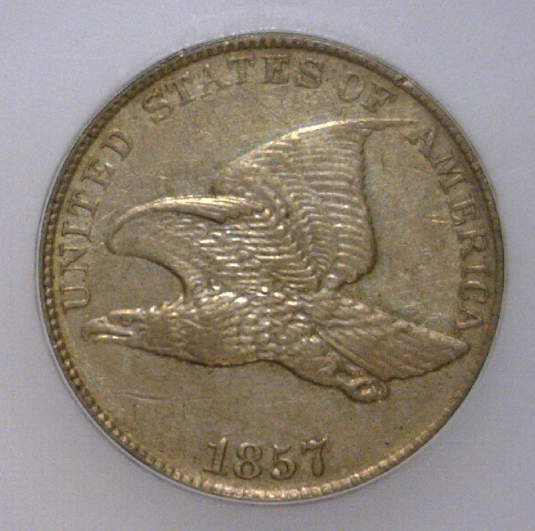 1857 Flying Eagle Cent ICG AU50