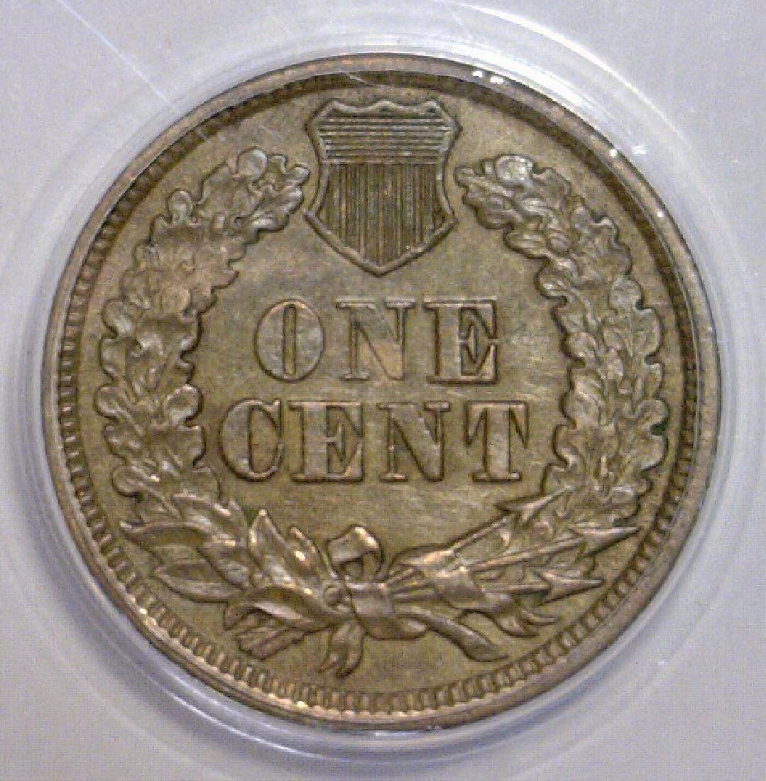 1862 Indian Head Cent ANACS AU58 Details - 3