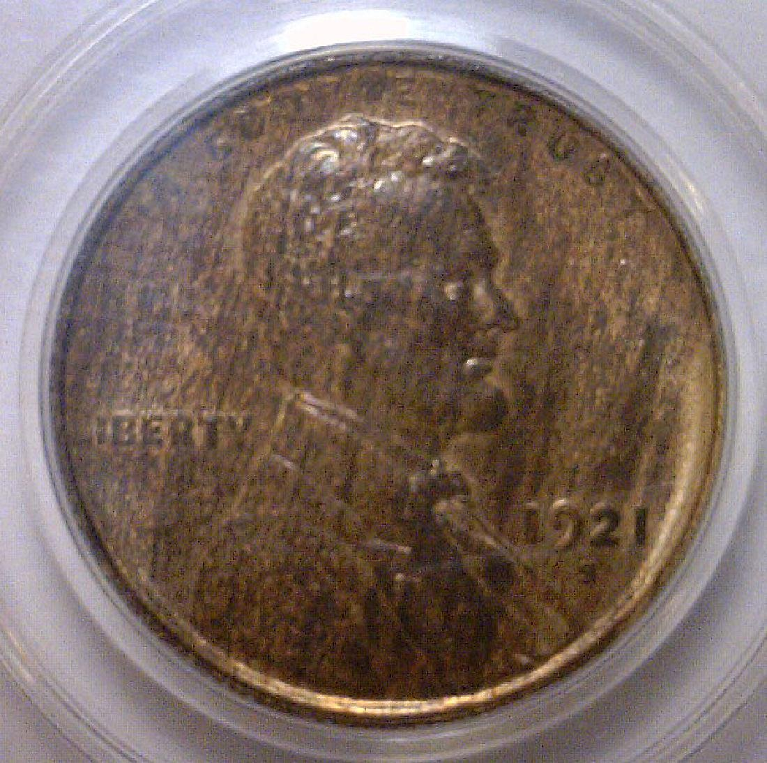 1921-S Lincoln Wheat Cent OGH PCGS MS64 BN