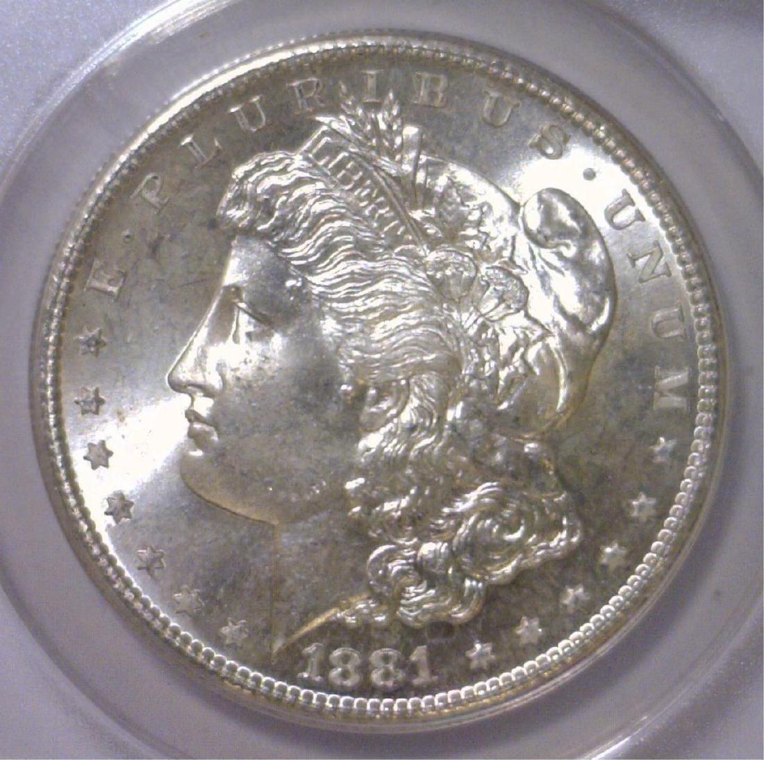 1881-S Morgan Silver Dollar ANACS MS64
