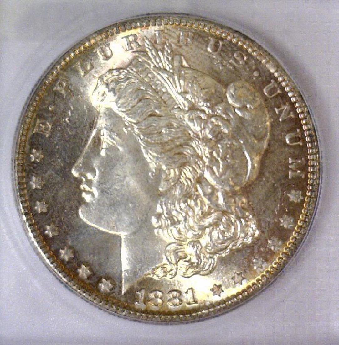 1881-S Morgan Silver Dollar ICG MS-65