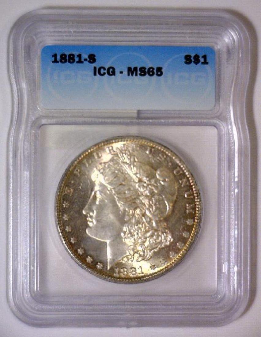 1881-S Morgan Silver Dollar ICG MS-65 - 2