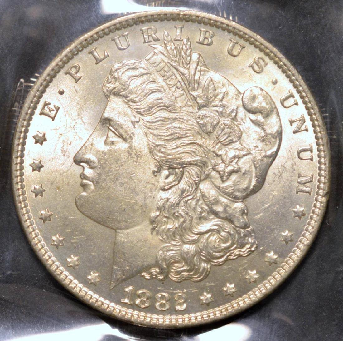 1882 Morgan Silver Dollar BU