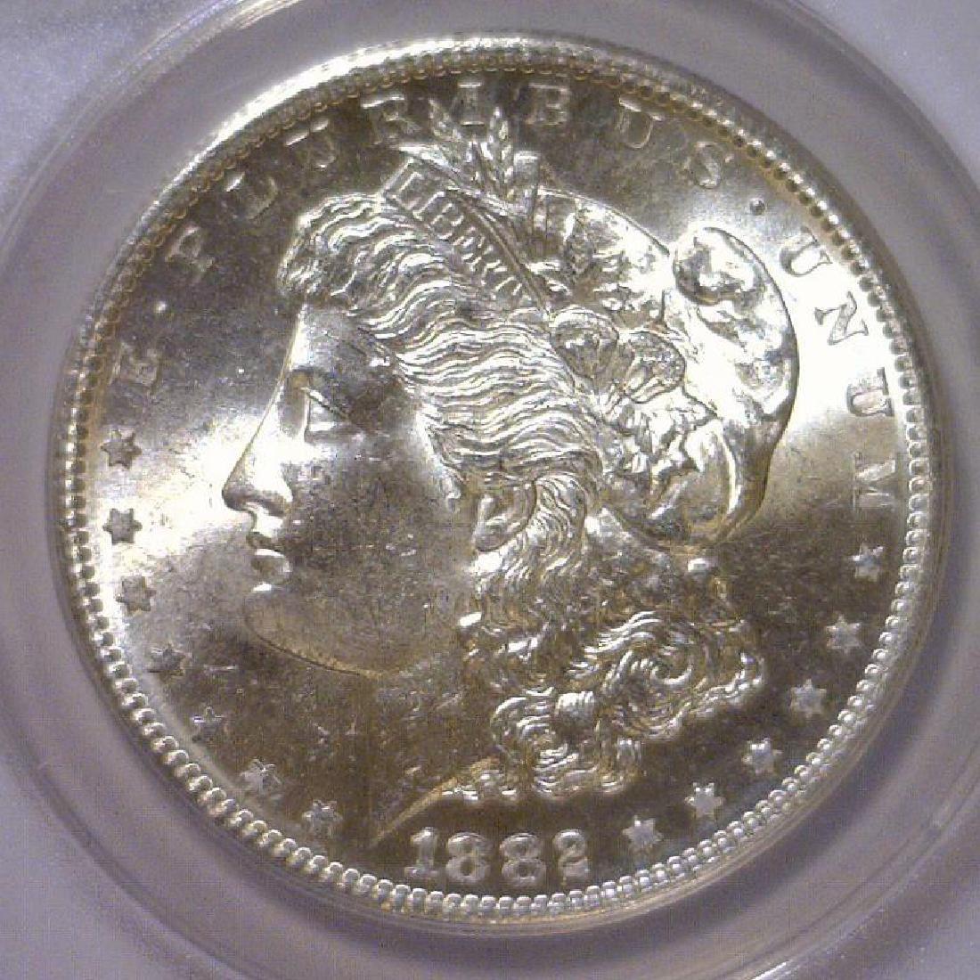 1882-S Morgan Silver Dollar ANACS MS64