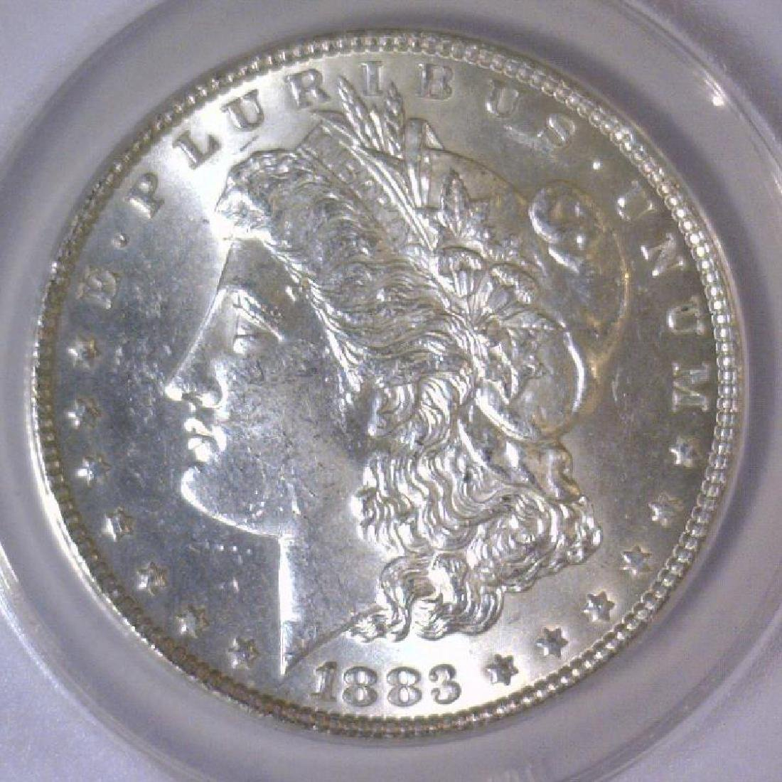 1883 Morgan Silver Dollar ANACS MS63